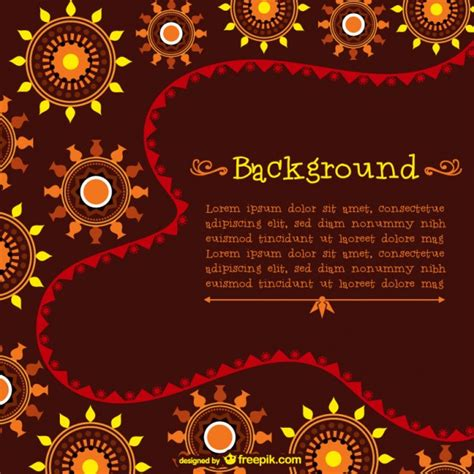 template  african pattern vector