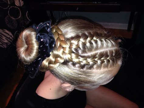 gymnastics hairstyle hairstyles pinterest double