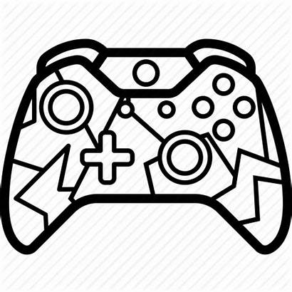 Xbox Controller Console Icon Gamer Play Drawing