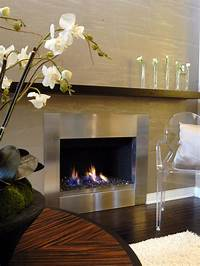 stainless steel fireplace surround Fireplaces: Stone, Brick and More | Home Remodeling ...