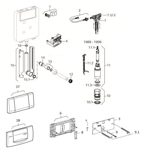 cassetta water geberit rintracciare i ricambi di una cassetta ad incasso geberit
