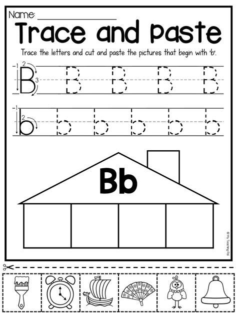 beginning sounds worksheets trace  paste letter