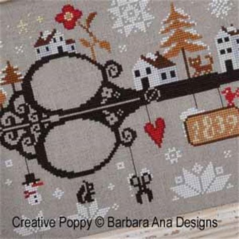 barbara ana   snow cross stitch pattern chart