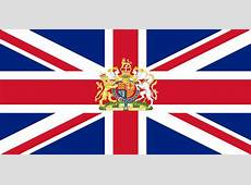 FileFlag of the United Kingdom defaced with coat of arms