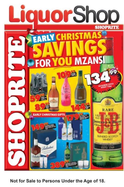 shoprite liquorshop early christmas savings  oct