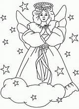 Coloring Christmas Angels Angel Ausmalbilder Engel Printable Colouring Religious Clipart Popular Clip Library Malvorlagen Ausdrucken Kostenlos Zum Coloringhome sketch template
