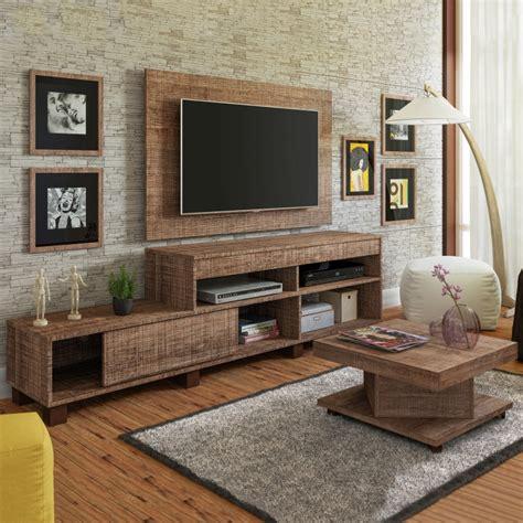 sala sofa preto e painel sala de estar painel rack e mesa de centro requinte