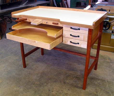 wooden plans  build  jewelers workbench  plans
