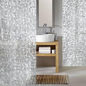 Rideau De Douche Design Cristal Transparent