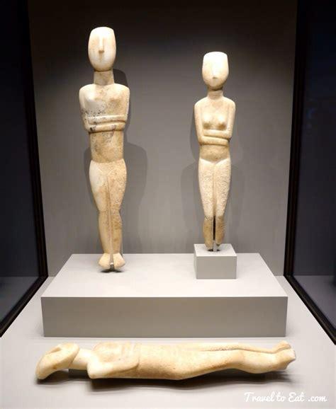 Cycladic Statues. Getty Villa, Pacific Palisades