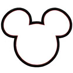 Mickey Mouse Head Silhouette