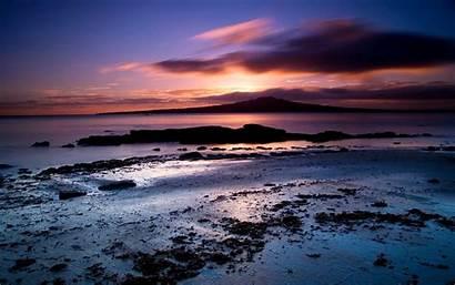 Sunset Fullscreen Landscape Beach Background Under Desktop