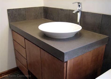 concrete vanity top  vessel sink concrete vanity