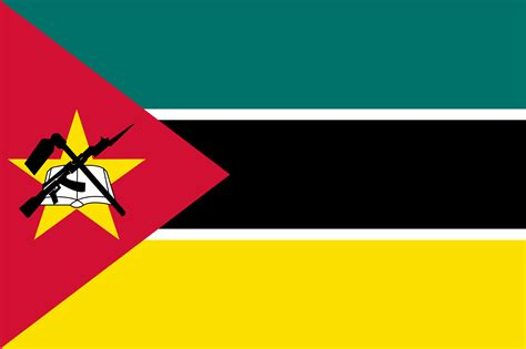 bandeira de mocambique bandeiras  mundo