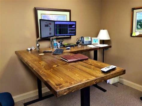 custom desk spotlight uplift   shaped standing desk