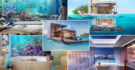 fancy  ocean view room   floating homes