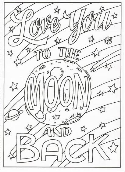 Coloring Pages Colouring Moon Quotes Adult Printable