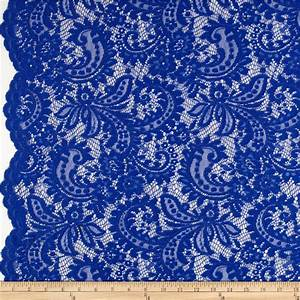 Telio Amelia Lace Royal Blue - Discount Designer Fabric