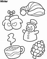 Snow Coloring Winter Sheet Colour Tools Sheets sketch template