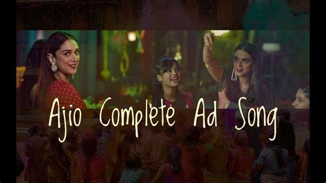 Feel free to buy me a coffee: Ajio Ad Song Complete - YouTube