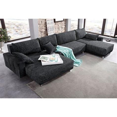canapé d angle avec banc canapé panoramique xl convertible en microfibre et tissu