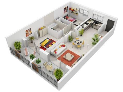 plan appartement 2 chambres 50 plans en 3d d 39 appartements et maisons des idées