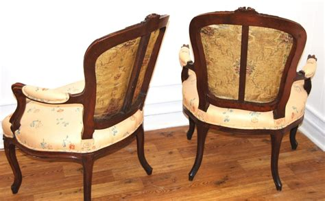 Antique Pair Of French Louis Xv Style Open Armchairs In