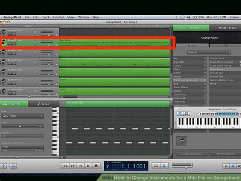 How To Change Instruments For A Midi File On Garageband 8