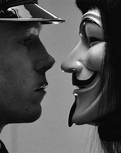 vendetta, mask, black and white, cool - image #661701 on ...