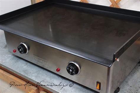 quigg de cuisine plancha electrique en acier lamine au carbone