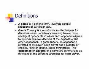 game theory dissertation topics