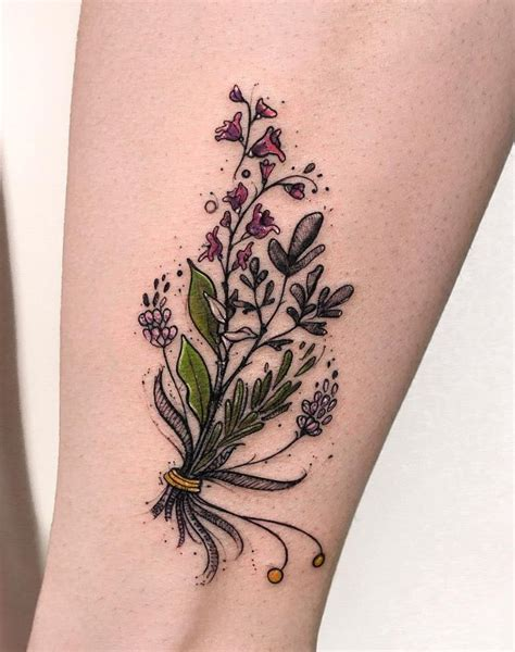 Flower Bouquet Tattoo  Flowers Ideas For Review