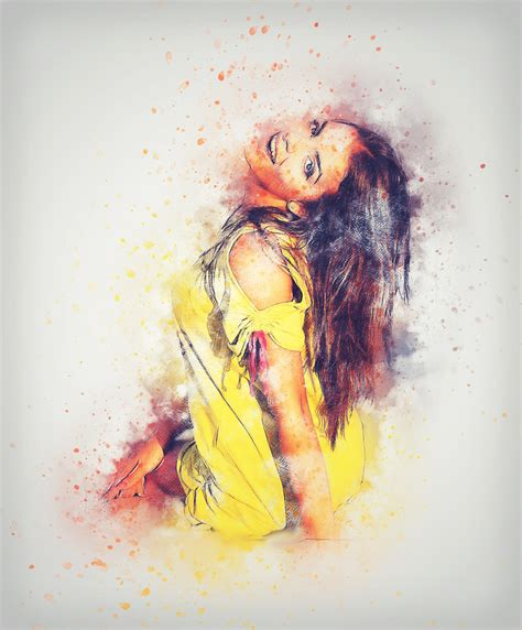 watercolor painting on plexiglass free images abstract vintage portrait