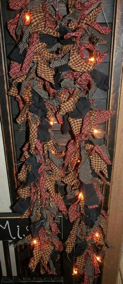 make a rag strip christmas tree strings of lights and rag strips a plan crafts primitive country crafts