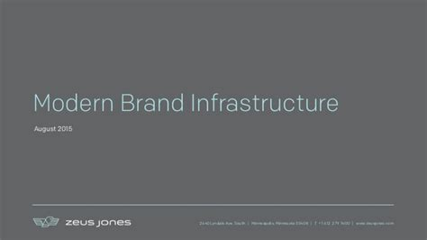 Infrastructure For Modern Brands