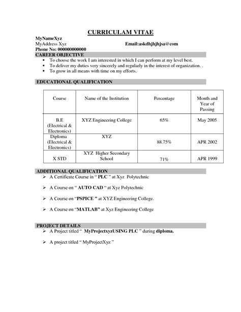 ece resume sample ece resume format it resume cover letter sample