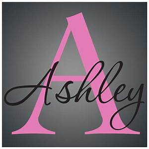 personalized name monogramvinyl wall decal sticker ebay With small vinyl lettering decals