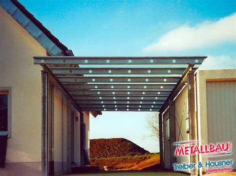 metallbau treiber hausner ueberdachung giebeldach