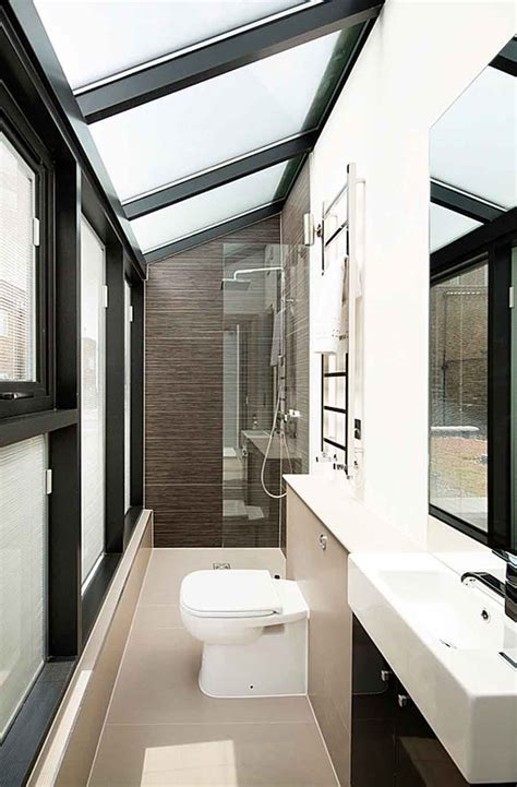 large tiles  small bathrooms