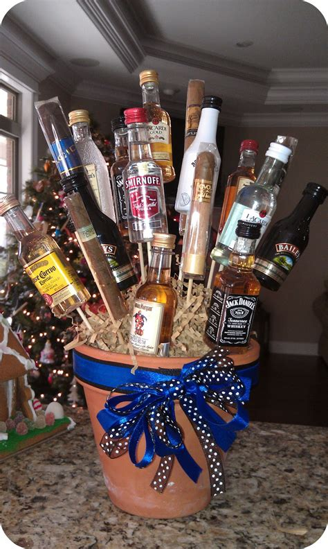 liquor gift for office all things fabulous birthday booze bouquet recipes and mini bar ideas
