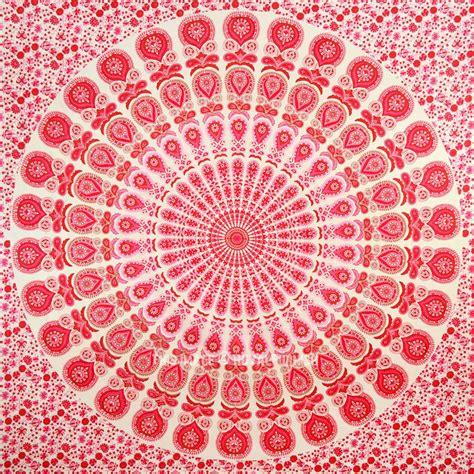 large blend  pink  red candid medallion mandala