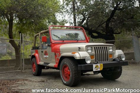 jurassic park jeep movie buffs build jurassic park jeep wrangler yj fleet