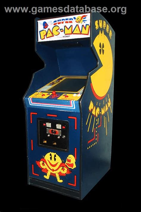 pac man arcade cabinet super pac man arcade games database