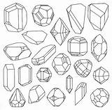Drawing Crystal Illustration Pages Doodle Colouring Line Gemstones Crystals Reference Diamond Shapes Geometric Tattoo Quartz Coloring Gem Google Doodles Drawings sketch template