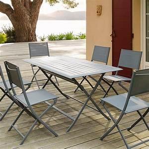Table De Terrasse Pliante Rectangulaire Azua Ardoise