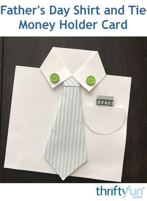 fathers day shirt  tie money holder card
