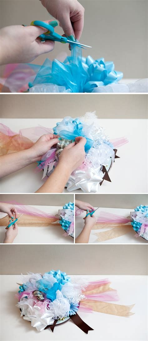 how to make a bridal shower bow bouquet easy steps