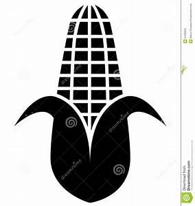 Corn Silhouette Icon Symbol Stock Vector - Illustration of ...