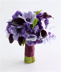 Purple Lavender Flower Wedding Bouquet