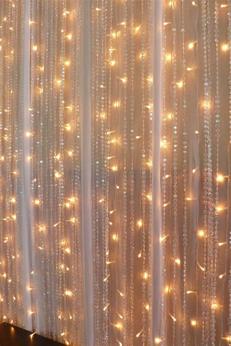 chiffon lights beaded curtains wedding